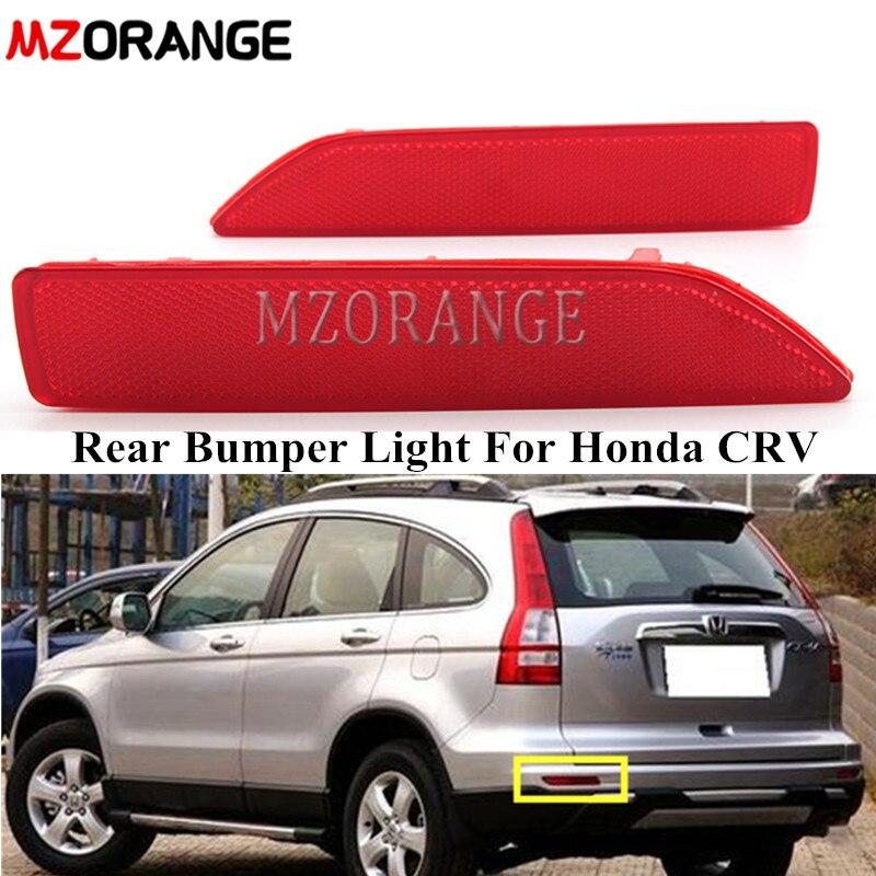 MZORANGE Rear Bumper Light Rear Reflector Lamp For Honda CRV CR-V 2007 2008 2009 Car Rear Bumper Reflector Light Without Bulb