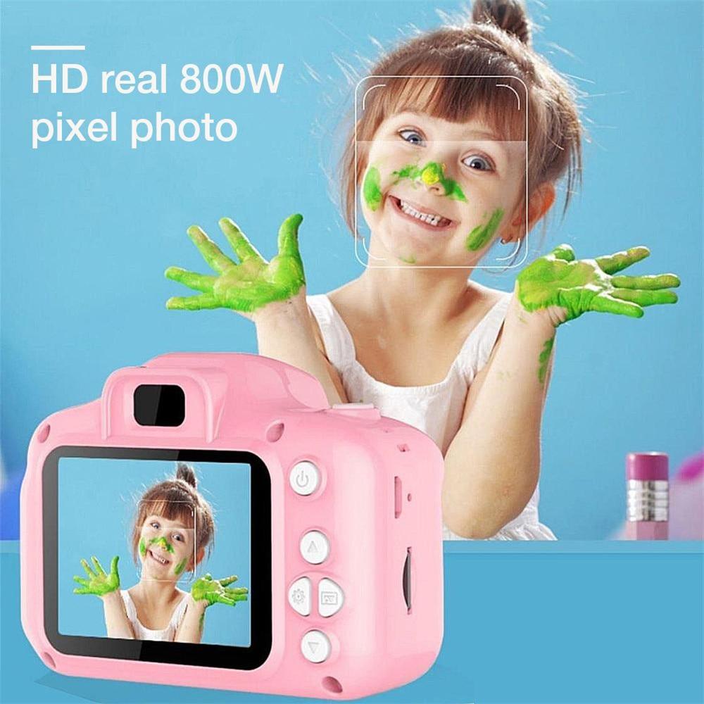 Mini cámara de juguete para niños, cámara Digital pequeña SLR de movimiento,...