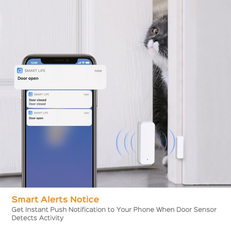 Capteur de fenetre de porte de WIFI de maison intelligente et alarme sonore de detecteur pour la securite de maison via lapplication intelligente de vie de Tuya