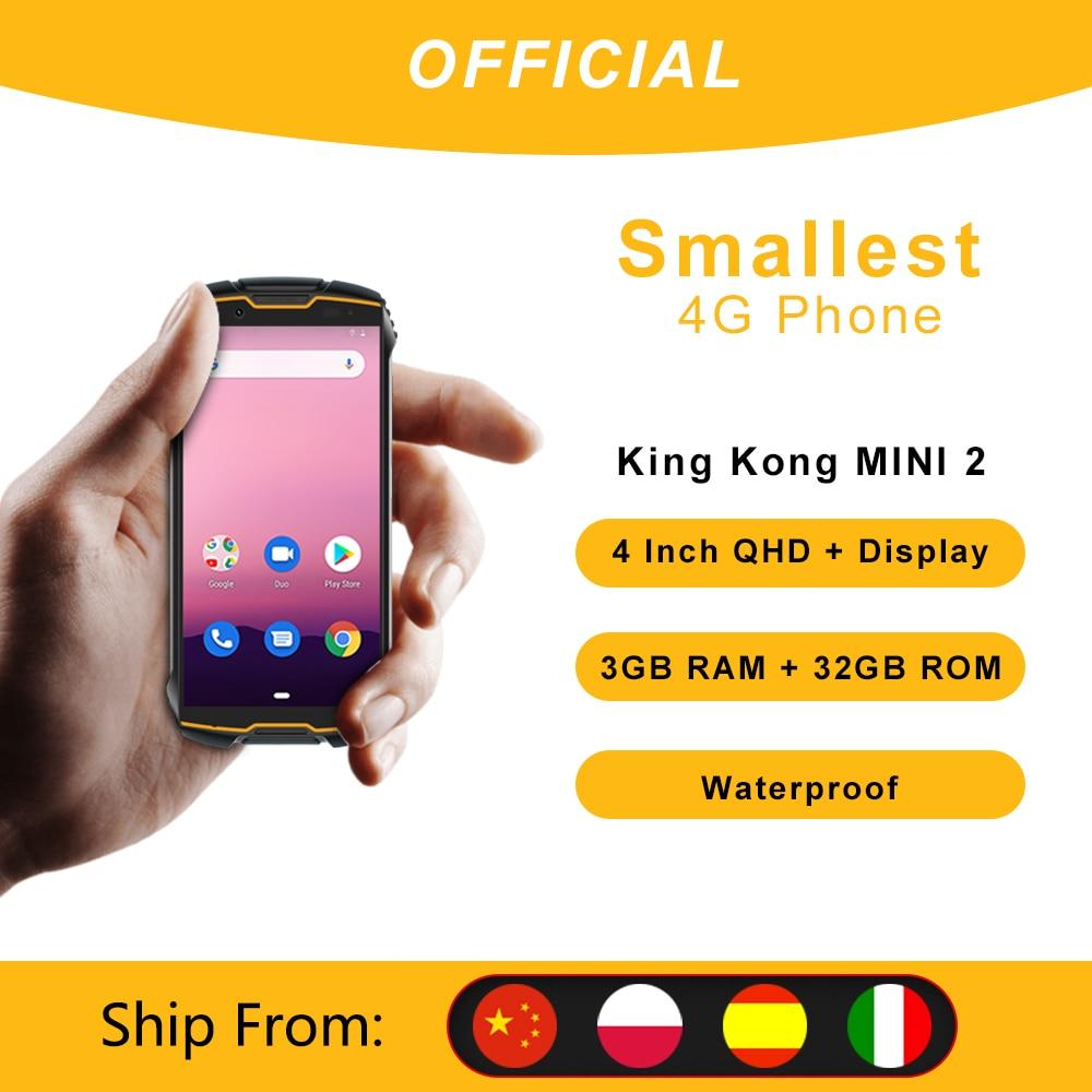 Cubot-هاتف ذكي ، KingKong MINI 2 ، مقاوم للماء ، متين ، 4 بوصة ، QHD ، هاتف ذكي ، 4G ، LTE ، شريحتين ، Android 10 ، 3 جيجابايت 32 جيجابايت ، كاميرا 13 ميجابكسل