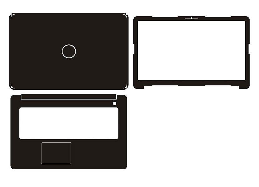 "Laptop Adesivo de Pele Decalque De fibra de Carbono de Couro Capa Protetora para Dell Inspiron 17 5767 17.3"""
