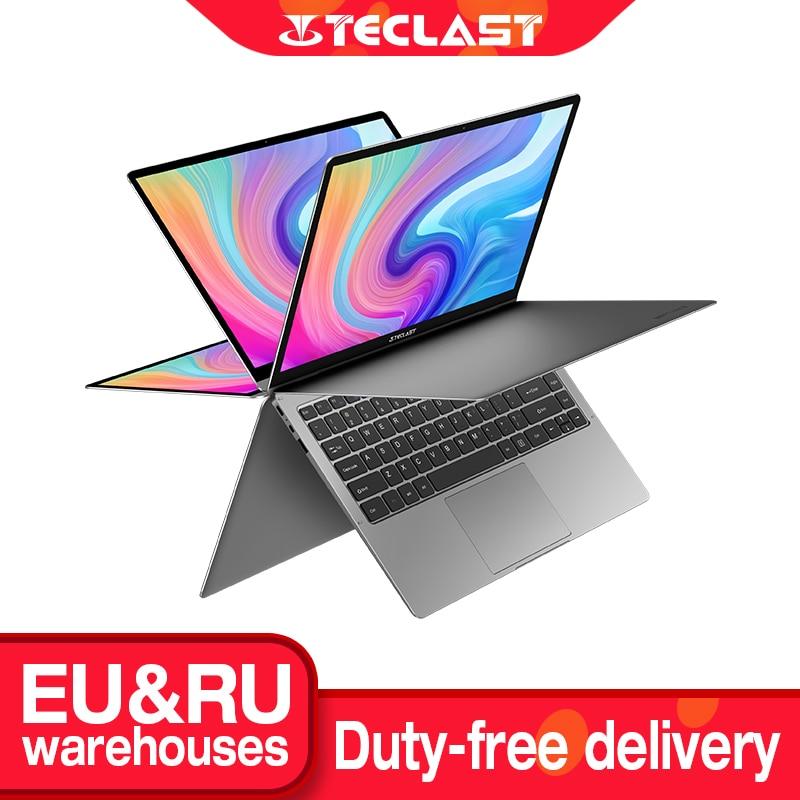 Teclast Newest Laptops F6 Plus 13.3 inch Notebook Gemini Lake 8GB LPDDR4 256GB SSD Windows 10 Laptop 360° Rotation Touch Tablet
