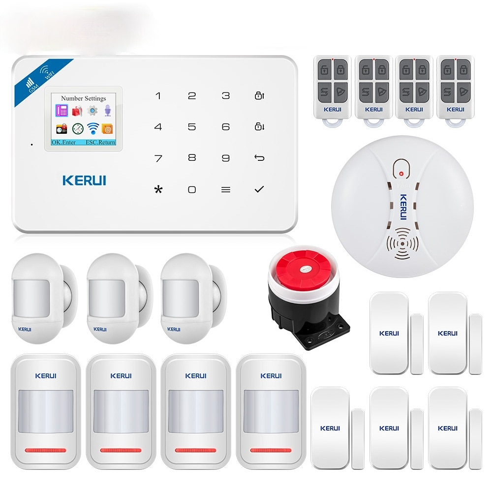 W18 WIFI GSM Security Alarm System Full Touch Keyboard APP Remote Control Home Security Anti-theft Motion Alarm System enlarge