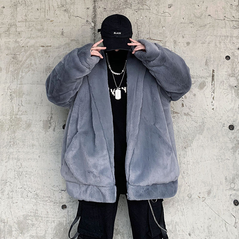 Korean Short Coat Men Clothes Winter Thicken Plus Fleece Jacket Men's Parka Warm Fashion Casual Hooded Coat Men Streetwear Loose