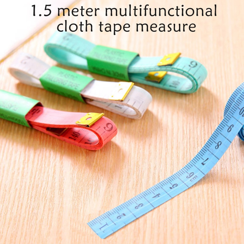 60in/150cm Weiche Herrscher Nähen Maßband Körper Mess Lineal Sewing Tailor Maßband Zufällige Farbe
