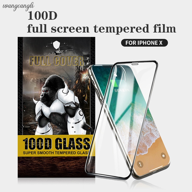 Protector de pantalla de teléfono móvil, Cristal Templado 100D para iPhone 11,...