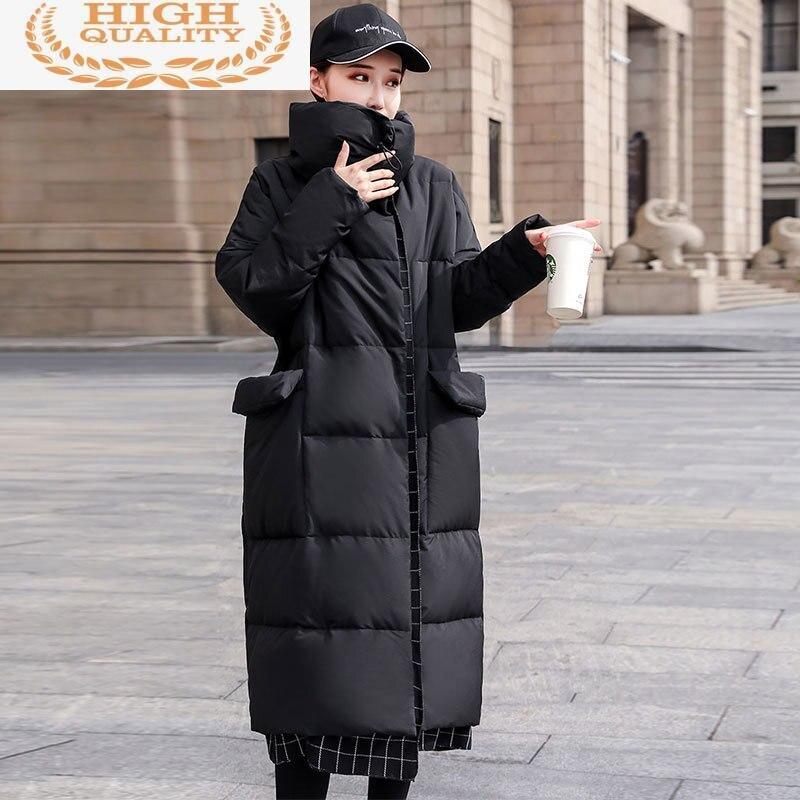 Abajo chaqueta de invierno de Mujeres de talla grande caliente Parkas largas...