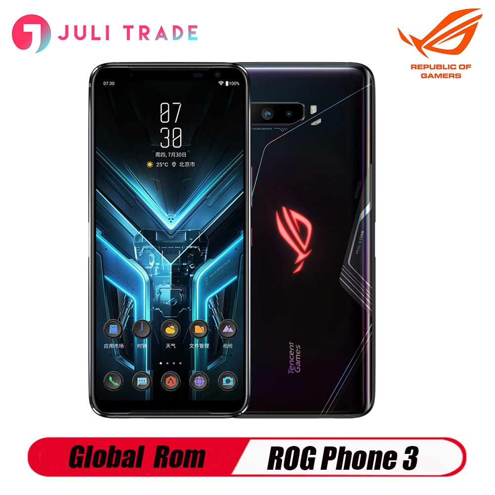 Global Rom ASUS ROG Phone 3 5G Snapdragon 865 / 865 12GB 256GBPlus 144HZ FHD+ AMOLED 6000mAh Battery NFC Camera 64MP