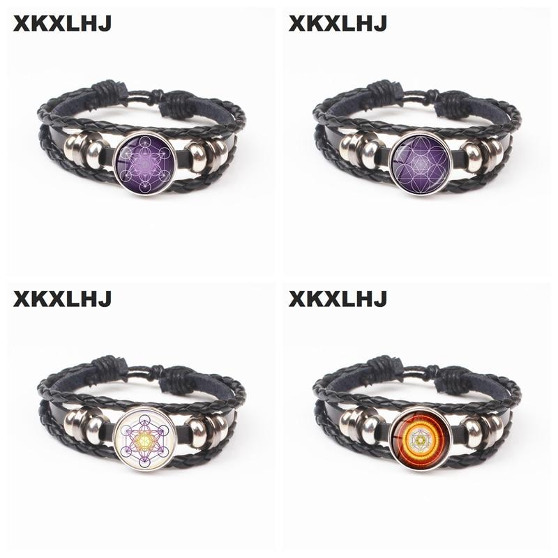 2018 Metatron Cube Bracelet Divine Geometry Flower Jewelry Chakra Spirit Bracelet Women Magic Six-pointed Star Bracelet Jewelry