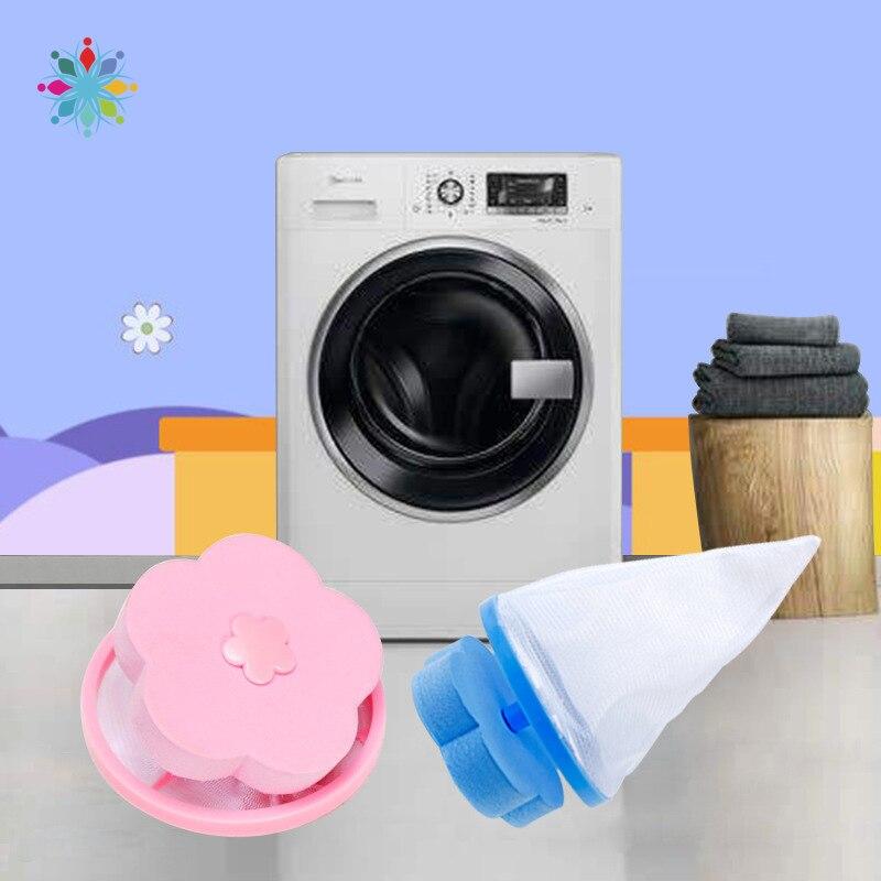 Bolsa de filtro de malla flotante para recogedor de pelo de lavadora bolsas de rejilla de lavar Magic Floating Lint y removedor de pelo de mascotas W118