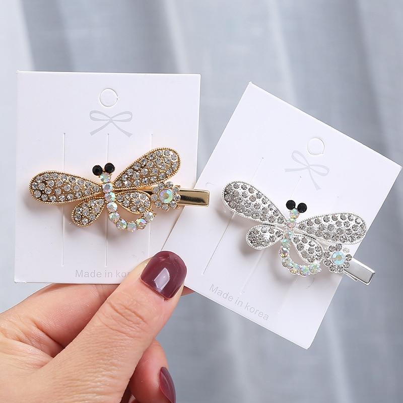Dragonfly hairpin Korean female rhinestone hairpin Korean bangs clip clip Duckbill accessories hair accessories headdress