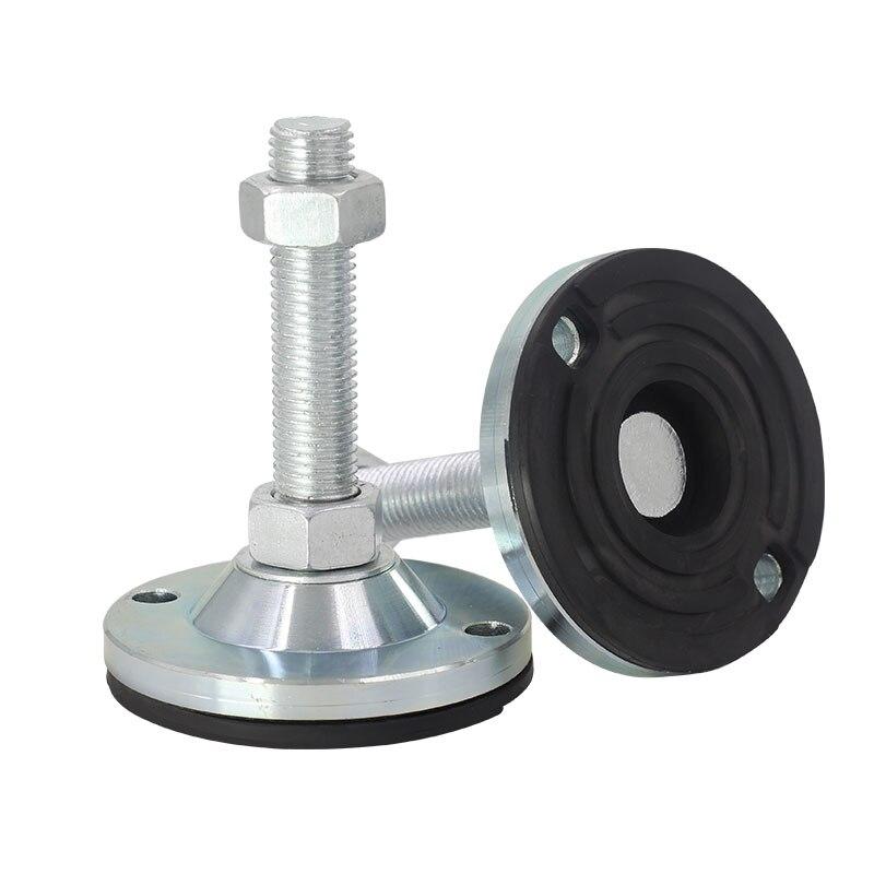 Tazas de pie ajustables M8/M10/M12 rosca tornillo sólido patas de apoyo pies niveladores muebles antideslizantes deslizamiento Pad
