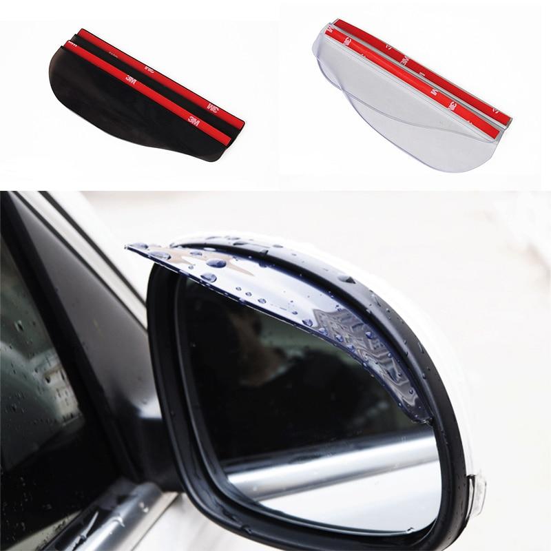 1Pair Flexible 2019 New Car Rear View Mirror Anti Rain Visor Snow Guard Weather Shield Car Rearview Mirror Rain Eyebrow Mirror