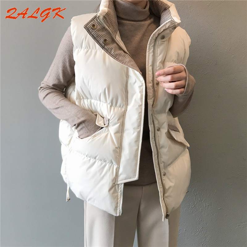 Short Vest Cotton Jacket Women's Jacket for Fall/winter 2021 New Loose and Thick Outer Wear Vest Top All-match Temperament