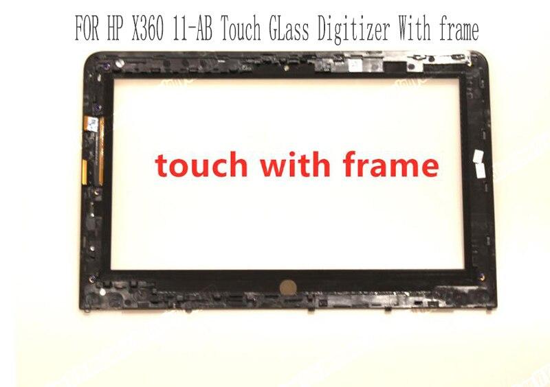لوحة شاشة تعمل باللمس بديلة ، 11.6 بوصة ، لـ HP Stream X360 11-ab series 11-ab002tu ab009tu ، مع إطار ، جديد