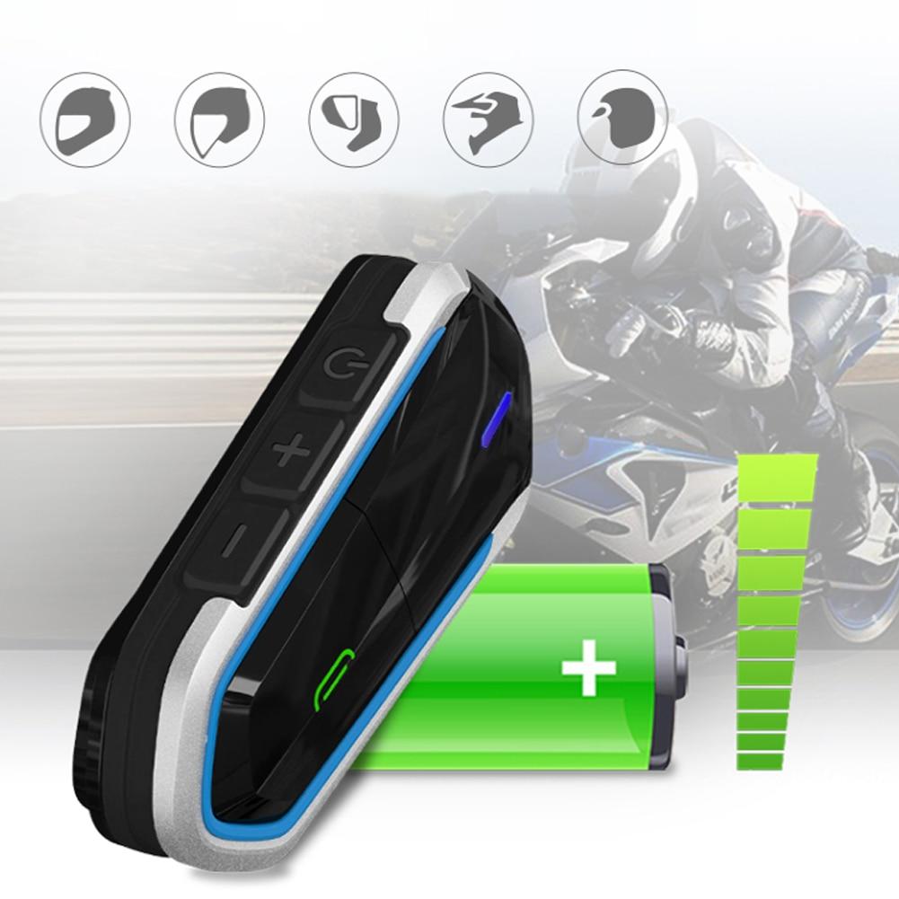 Motorcycle Bluetooth Helmet Intercom Wireless Hands-free Telephone Call Kit Stereo Anti-interference Interphone Chip CSR8635
