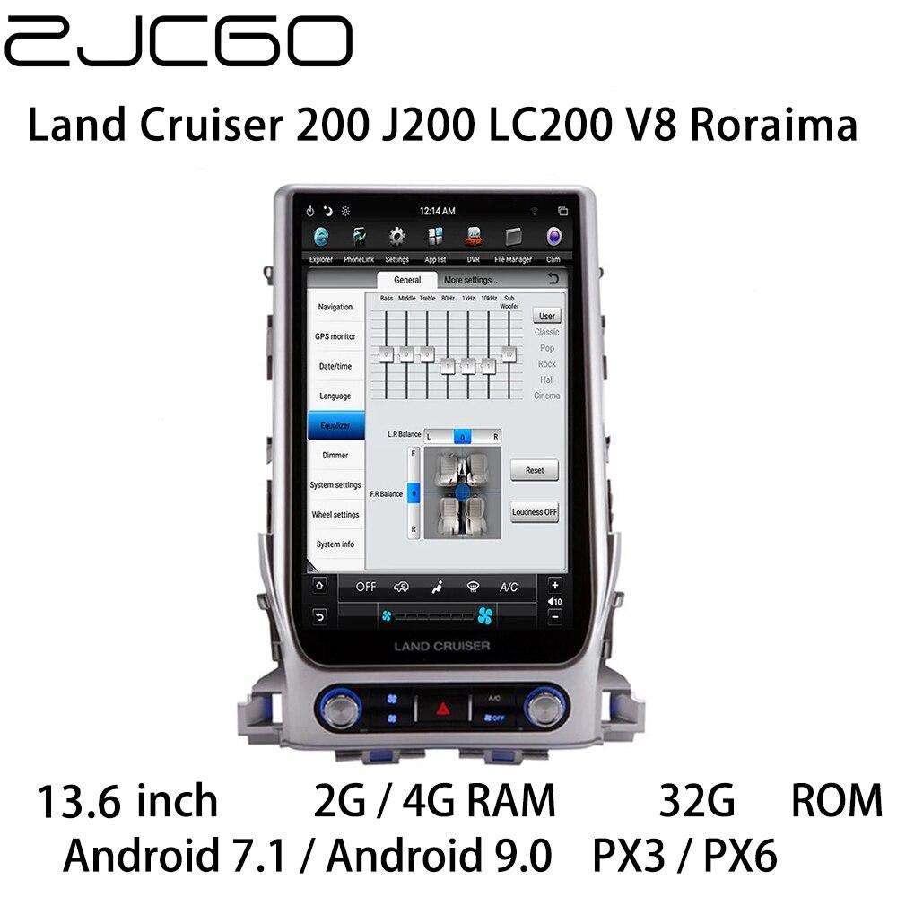 Reproductor Multimedia estéreo de coche, GPS, Radio navegación, pantalla Android para Toyota Land Cruiser 200 J200 LC200 V8 Roraima 2015 ~ 2020