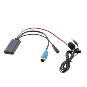 Car Radio KCE-237B Full Speed AUX Input Replacement 3.5MM o MP3 Bluetooth 5.0 Microphone Adapter for Alpine