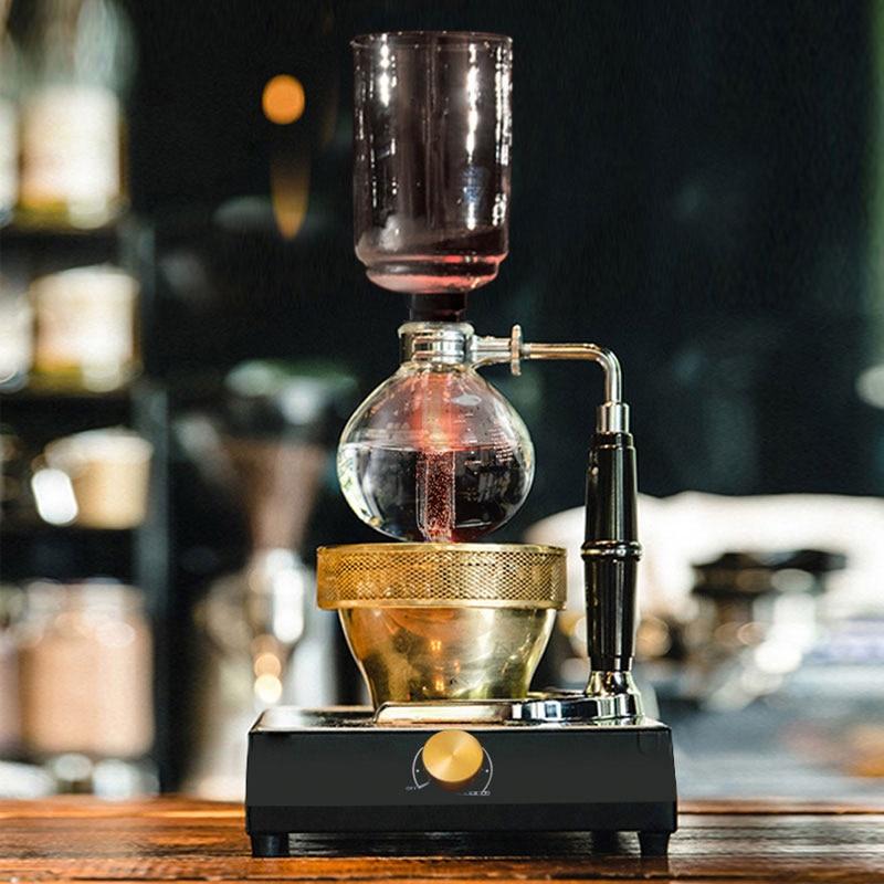 3cup 5cup سيفون صانع القهوة سيفون وعاء فراغ صانع مقاومة للحرارة اليد ماكينة القهوة الزجاج سيفون ماكينة القهوة مرشح ماكينات