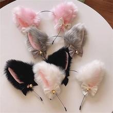 สวย Masquerade ฮาโลวีนแมวหู Headwear คอสเพลย์แมวหูอะนิเมะเครื่องแต่งกาย Bell Headwear Headband อุปกรณ์เสริมผม