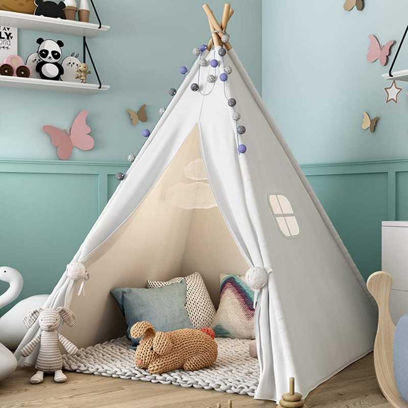 1.8m Children's Teepee Tent For Kids Indoor Outdoor Tipi Child Tent Play House Wigwam for Children недорого