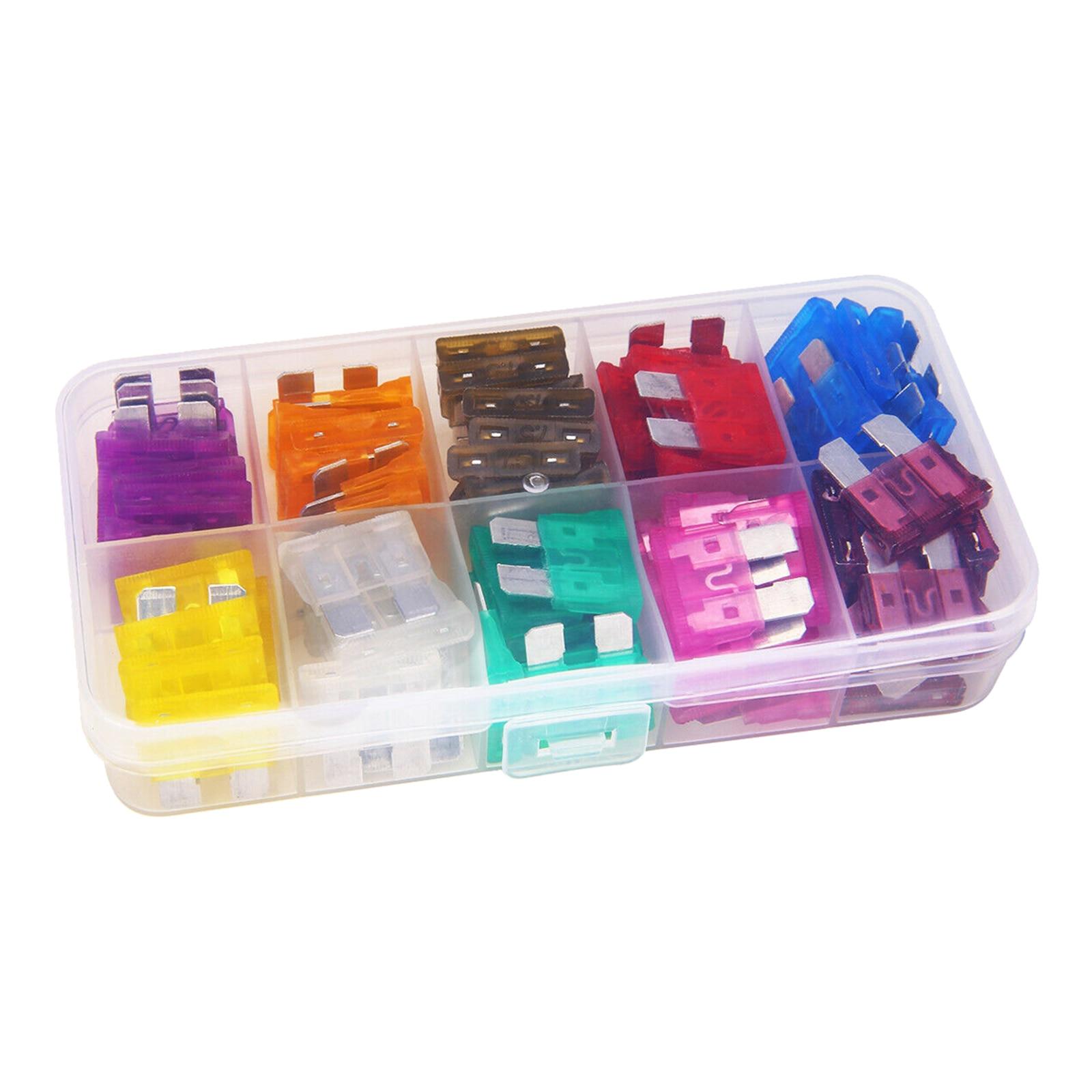 80PCS Fuse Car Kit Assorted Auto Car Truck Standard Blade Fuse Assortment 3A 5A 7.5A 10A 15A 20A 25A