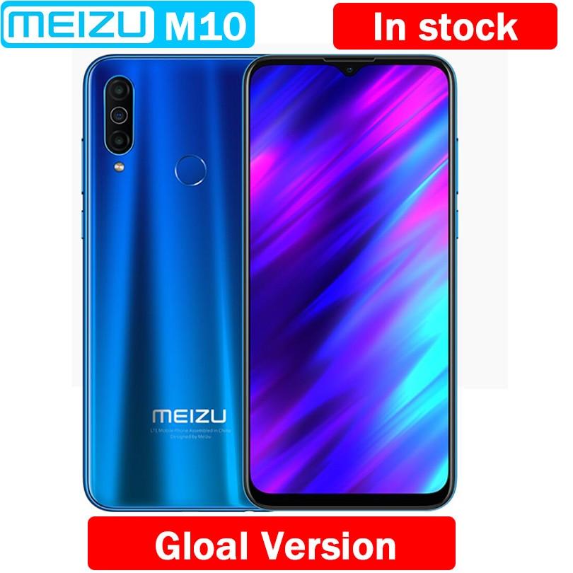 Original Meizu M10 Globale Version 3GB 32GB MTK P25 Octa Core 4000mAh Große Batterie Triple Kamera Android telefon