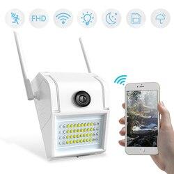 1080p hd câmera de parede externa sem fio, à prova d água áudio wi-fi ir visão noturna corpo humano indução jardim inteligente sem fio câmera sd
