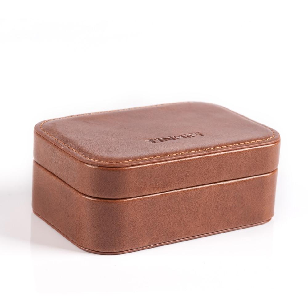 Caja de hojalata HIFI Auido bolsa estuche para auriculares caja de cuero PU pegatina buena calidad para hojalata HIFI/Audio T2/T3/T4