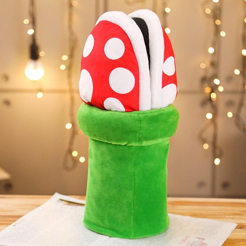 ¡Novedad! ¡Gran calidad! Supermario Cannibal Flower Plush Toys mujeres Halloween carnaval disfraces divertidos zapatos Cosplay regalo de Navidad D