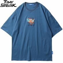Erkekler T gömlek 2020 Streetwear çin Kanji nakış şehriye Tshirt Harajuku Hip Hop kısa kollu T-Shirt yaz pamuklu üst giyim Tees