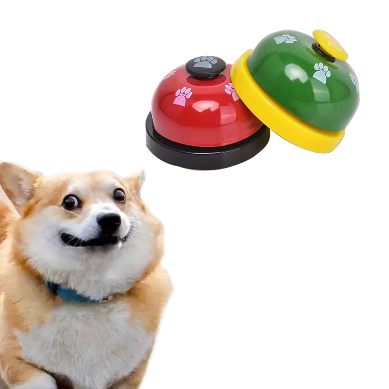 Free Shipping Pet Toy Training Dinner Bell Products Small Dog Paw For Teddy Puppy