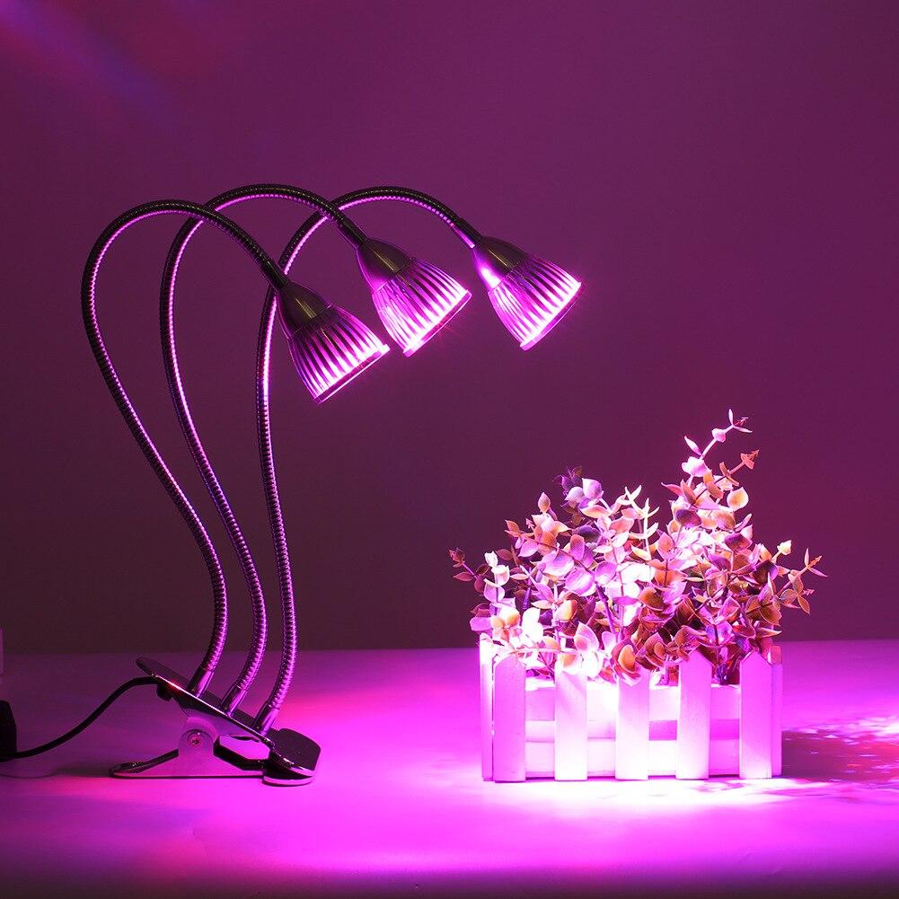 Planta de girassol luz led clipe planta crescimento suplemento luz interior mais carne planta lâmpada inundação