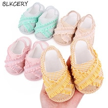 Fashion Brand Newborn Baby Shoes for Girl Sandalen Toddler Summer Shoes Infant Slippers Princess Fla