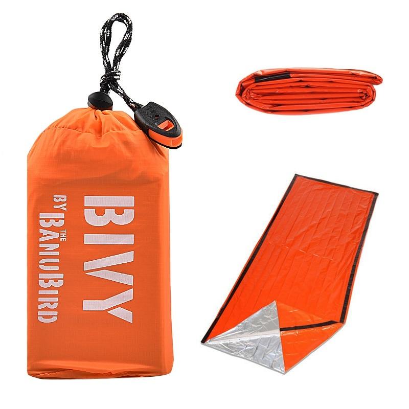 2/3 pcs/set Outdoor Emergency Sleeping Bag Thermal Keep Warm Waterproof Mylar First Aid Emergency Bl