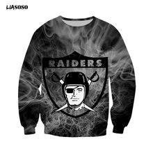 Nieuwe 3D Schedel Over Gedrukt-Shirts Mode Sweatshirt Mannen Vrouwen Rugby Dragen Baseball Wear Unisex Raiders Top Sport trui