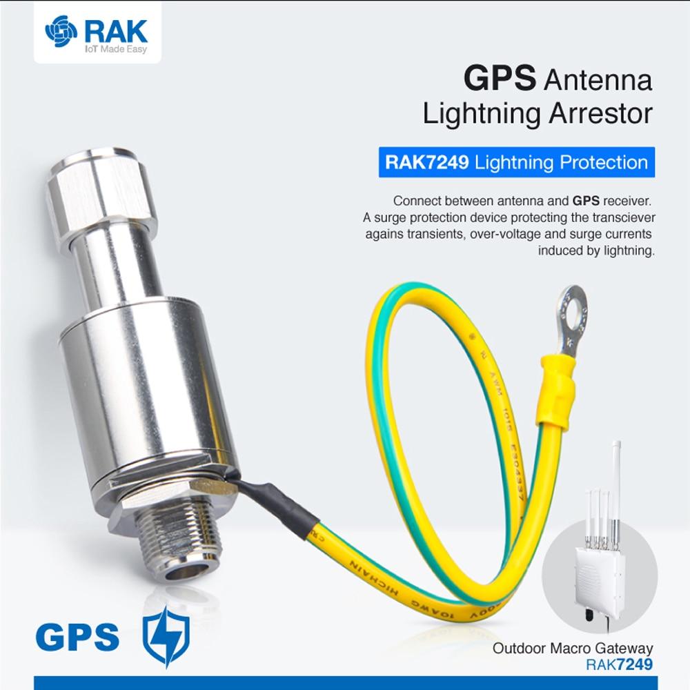 GPS Antenna Lightning Arrestor for RAK7249 Outdoor Macro Gateway Surge Protection System Device