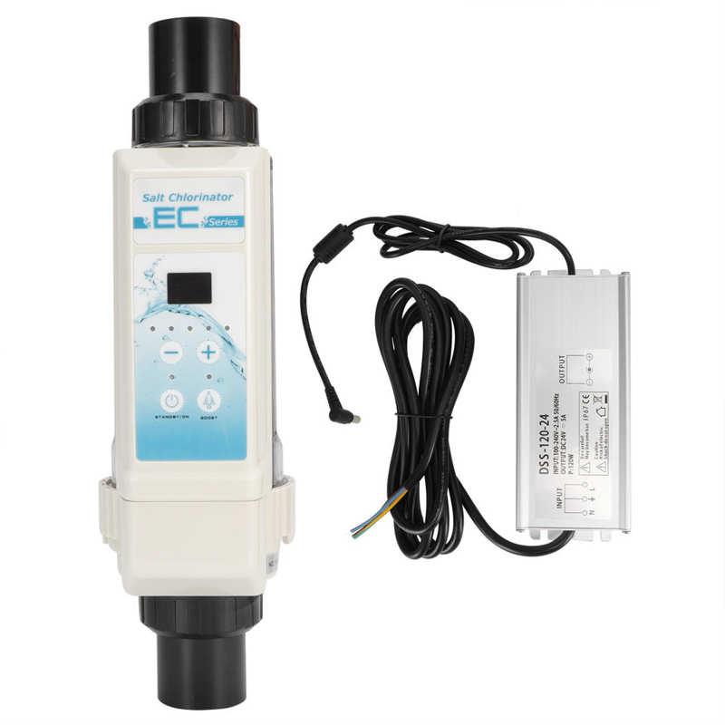 مولد كهربائي للكلور للسبا EC8/EC12/EC12/EC16/EC20 8g/h12g/h12g/h20g/H حمام سباحة للملح كلورة 100-240 فولت مستوى موجه