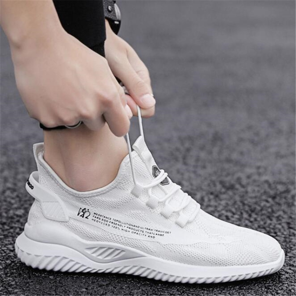 Zapatillas deportivas informales transpirables para hombre con versátil malla zapatos de hombre zapatillas tenis masculino adulto hombres zapatos balenciaca