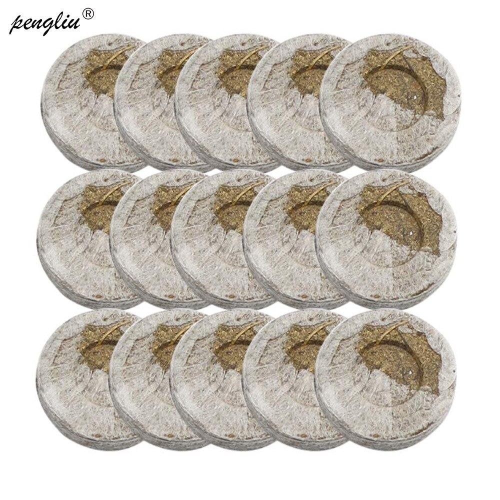 40pcs-pack 30mm jiffy turfa pellets plântula solo bloco fabricante começando plugues sementes starter profissional para jardim