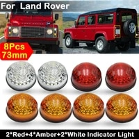 4yellow2clear2red led turn signal lamp stop lights clearance light for land rover defender complete led lamp upgrade kit