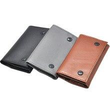 Tobacco Pouch Case Bag PU Leather Pipe Cigarette Holder Smoking Paper Holder Case Wallet Bag Portabl
