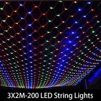 fairy string light garland window curtain 3x2m led net mesh christmas fairy light wedding party holiday light