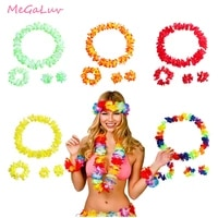 5 pcslot hawaii party flower wreath hawai floral head decor pineapple sunglasses tropical goggles decoration luau party
