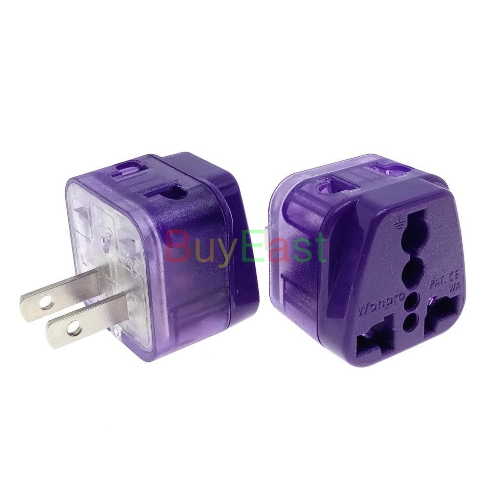 Adaptador de enchufe eléctrico Universal, 2 en 1, para Reino Unido, Italia,...