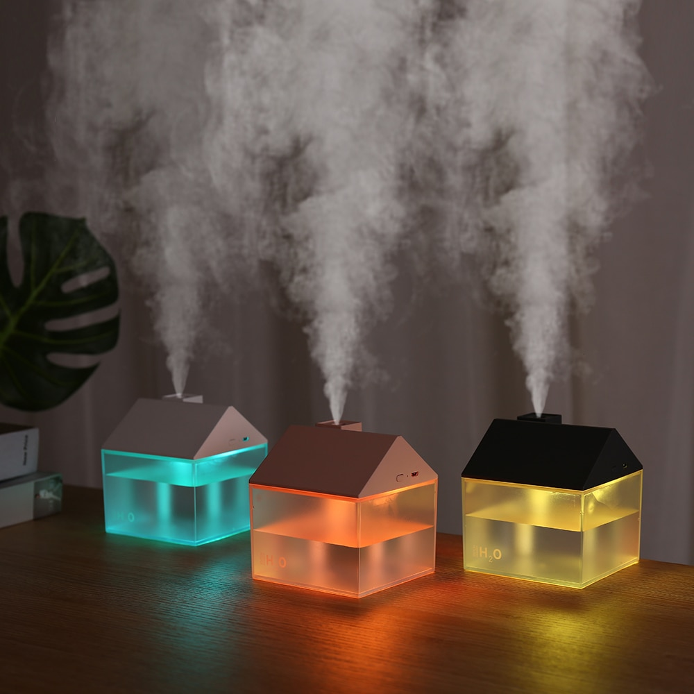 3 في 1 USB منزل المرطب 250 مللي بالموجات فوق الصوتية الهواء ضباب صانع المحمولة زيت عطري الناشر اللون ليلة مصباح المرطب