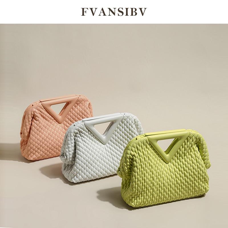 حقيبة جلدية تطريز أنيق أصلية للسيدات مثلث مقلوب 2021 تصميم العلامة التجارية الفاخرة الجديدة حقيبة قطري جودة عالية