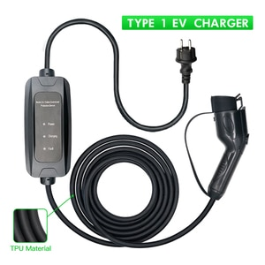 Electric Vehicle Car Charging Cable EV Charger Type 1 Electric Car Charger 16A or 32A Home Charging Cable with Schuko Plug