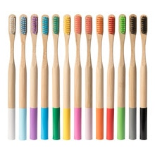 1PC Umwelt Holz Regenbogen Zahnbürste Bambus Zahnbürste Bambus Fibre Holzgriff Zahn pinsel Bleaching Regenbogen