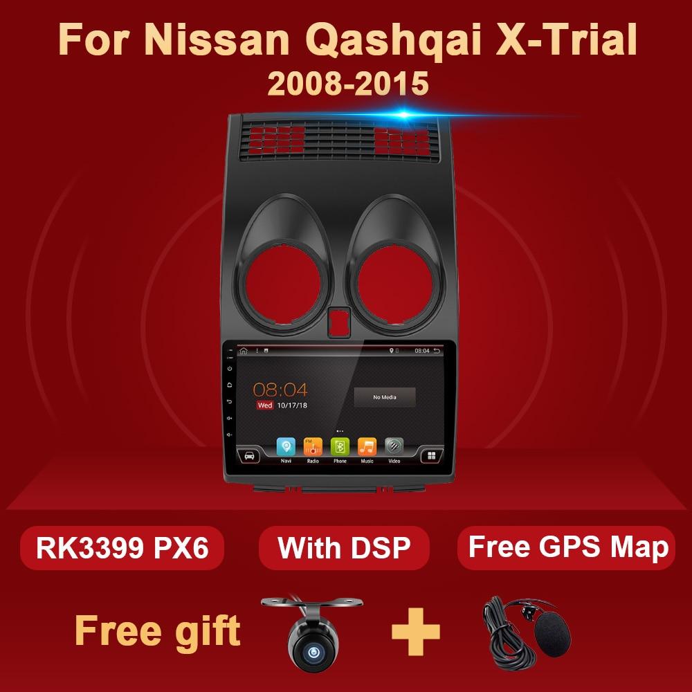 2 Din Android Auto Radio Für Nissan Qashqai X-TRIAL 2008-2015 Multimedia-Player Audio HD Screen WIFI 4G 64GB 2Din GPS Navigation